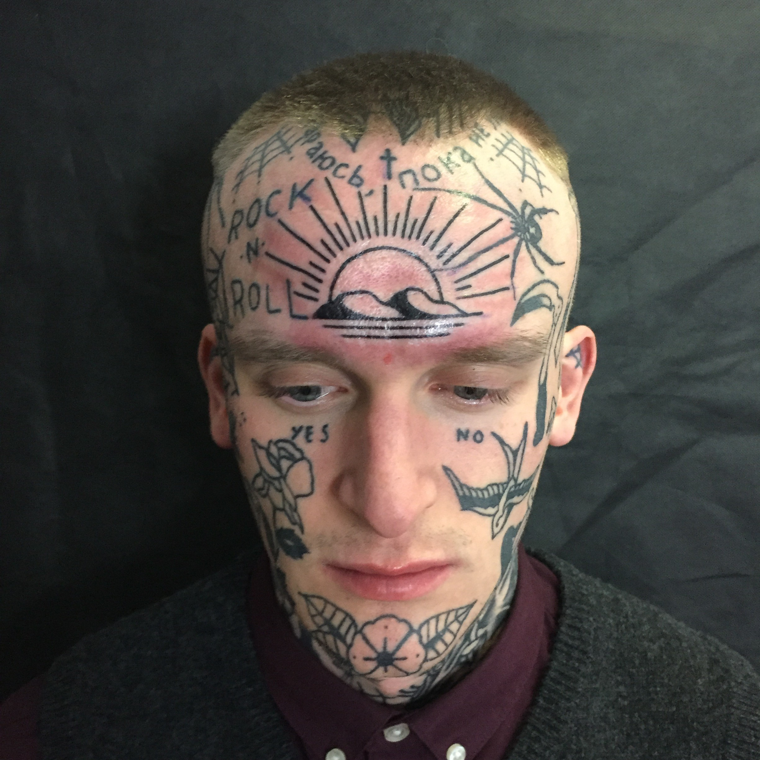 Crazy Face Tattoos Designs